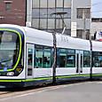 広島電鉄 1000形 1004 ① グリーンムーバーLEX 撮影2014年3月