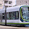 広島電鉄 1000形 1005 ① グリーンムーバーLEX 撮影2014年3月