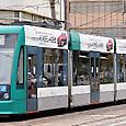 広島電鉄 5000形 5011 グリーンムーバー 2002年シーメンス アルナ製 撮影2014年3月