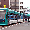 広島電鉄 5000形 5002 グリーンムーバー 1999年シーメンス デュワグ アルナ製 2006年3月撮影