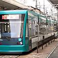 広島電鉄 5000形 5008 グリーンムーバー 2001年シーメンス デュワグ アルナ製 撮影2006年3月