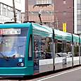 広島電鉄 5000形 5012 グリーンムーバー 2002年シーメンス アルナ製 撮影2006年3月 市内線用