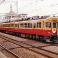 土居駅を通過する3000系 3018  6両編成