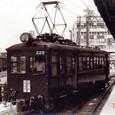 近畿日本鉄道 北勢線 1977年 西桑名駅 モニ220形 225 事故復旧車