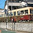 熊本市交通局(熊本市電) 5000形連接車 5014A 西鉄色 2008年撮影