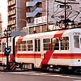 熊本市交通局(熊本市電) 5000形連接車* 5011A  1993年撮影