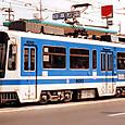 熊本市交通局(熊本市電) 9200形 9202 広告塗装 2013年撮影