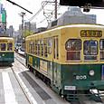 長崎電気軌道(長崎市電) 201形(車体更新車) 205 オリジナル塗装 2006年撮影