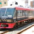 西日本鉄道 8000形特急車 第1編成⑥ ク8000形 8016 西鉄創立100周年記念ラッピング電車