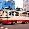 土佐電気鉄道 軌道線 200形 201 直接制御車 冷房付き 1992年12月撮影