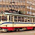 土佐電気鉄道 軌道線 600形 608 間接制御車 1992年12月撮影?