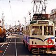 土佐電気鉄道 軌道線 600形 606 直接制御車 1992年12月撮影