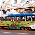 土佐電気鉄道 軌道線 600形 615 間接制御車 冷房改造車 広告塗装 1992年12月撮影
