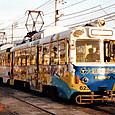 土佐電気鉄道 軌道線 600形 623 間接制御車 冷房改造車 広告塗装 1992年12月撮影