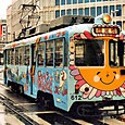 土佐電気鉄道 軌道線 600形 612 間接制御車 冷房改造車 広告塗装 2003年3月撮影