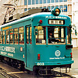 土佐電気鉄道 軌道線 800形冷房改造車 803 広告塗装 2003年3月撮影